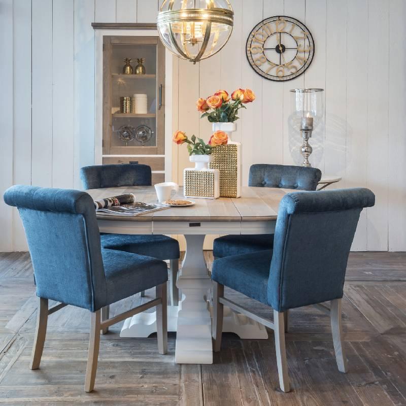 Table ronde en bois pour salle a manger